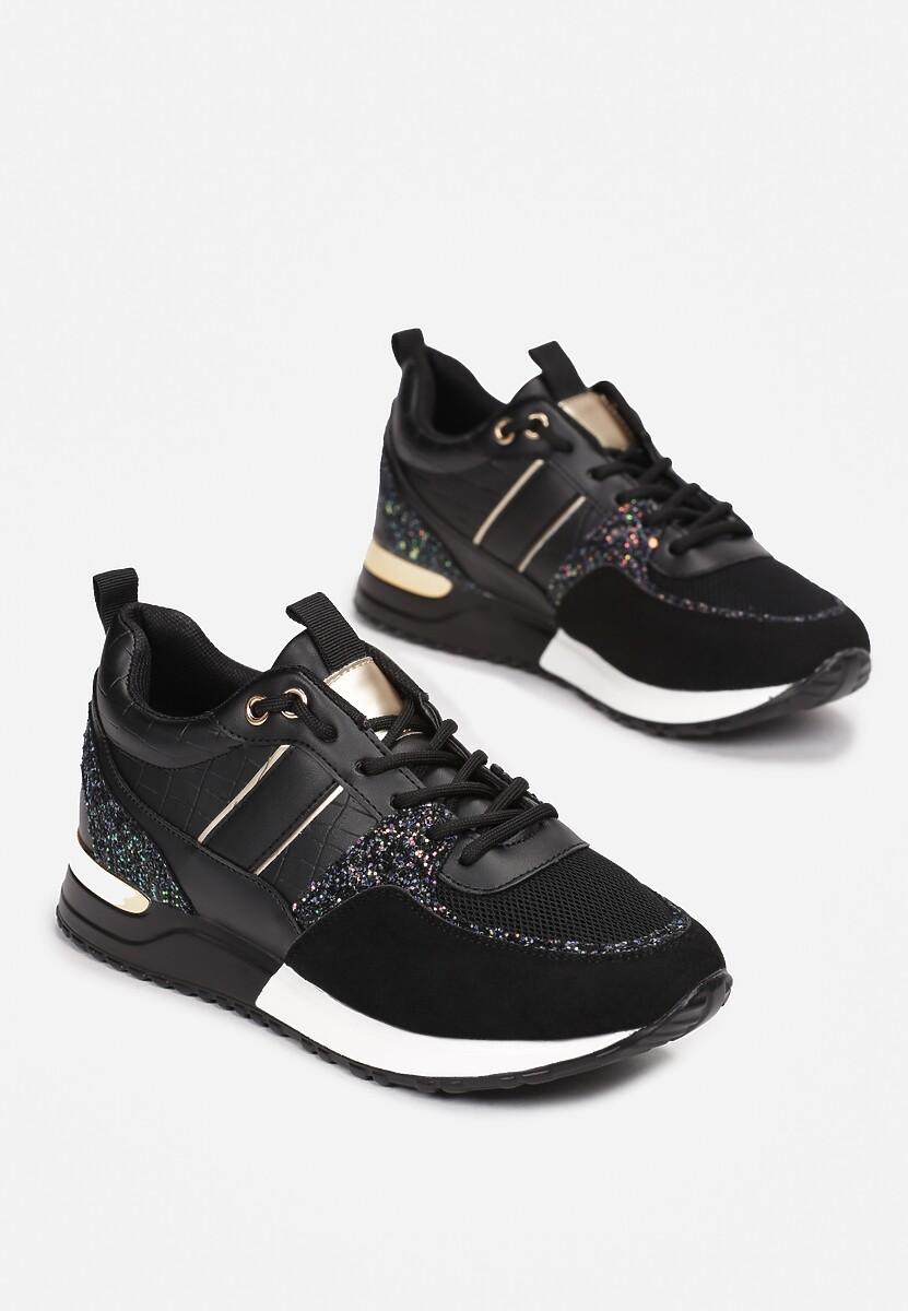 Czarne Sneakersy Dilya
