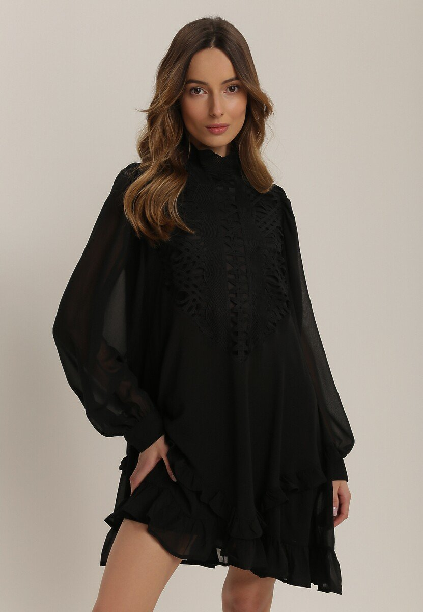 Czarna Sukienka Rislea