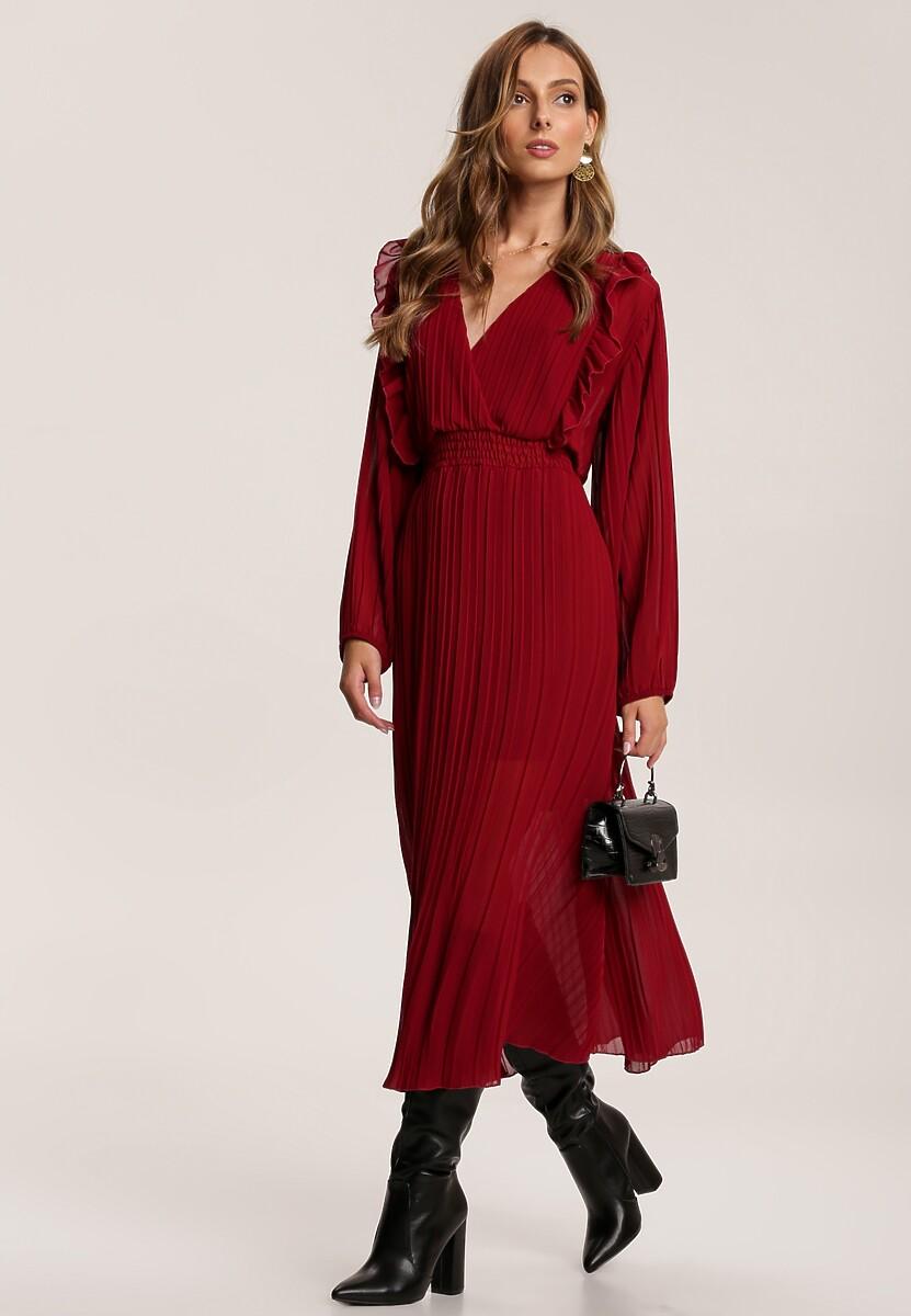 Bordowa Sukienka Stylizacje Nie Tylko Na Jesien Blog Renee