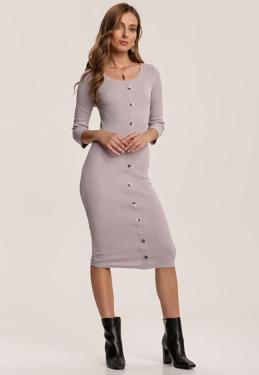 Szara Sukienka Mezyera