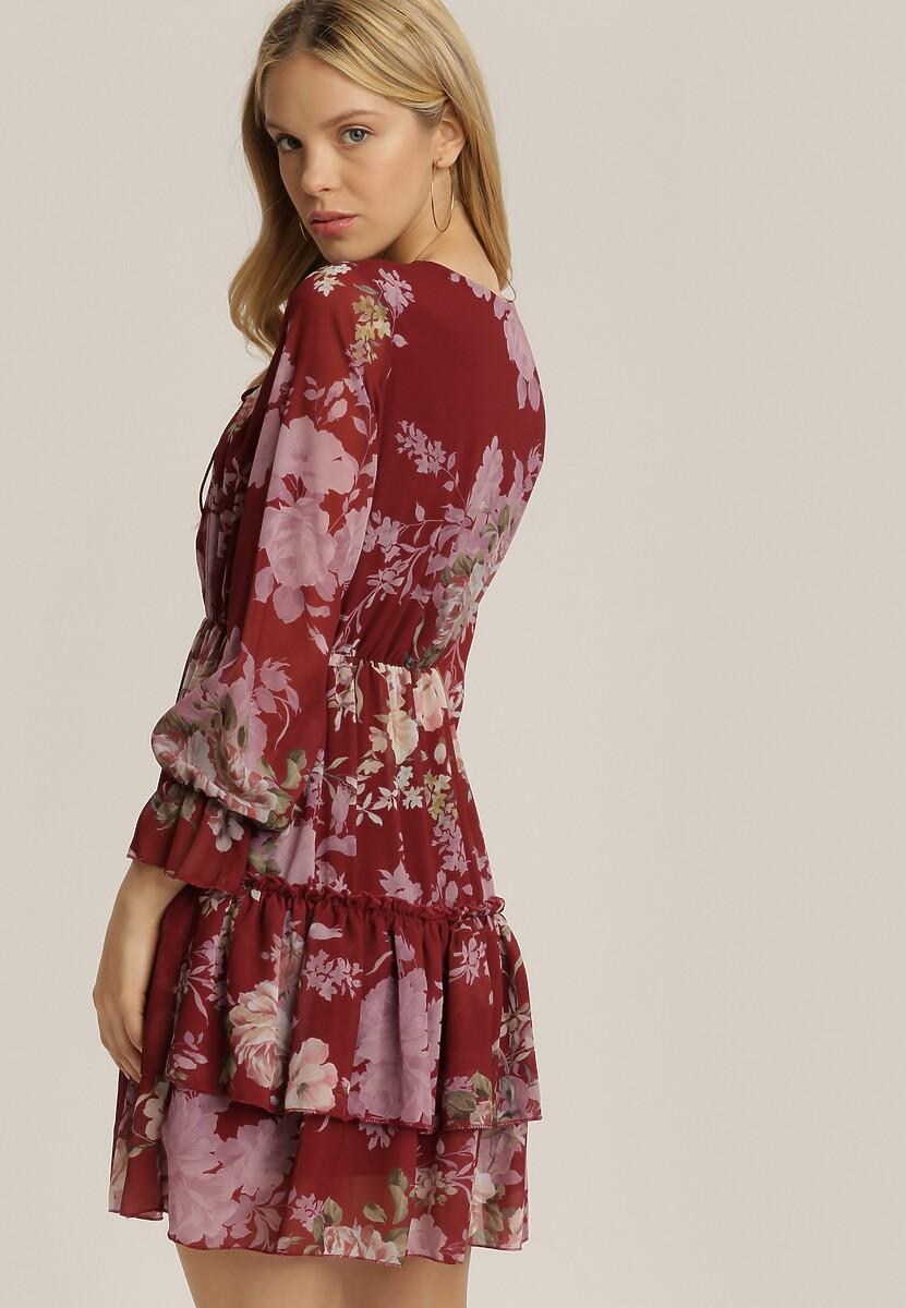 Bordowa Sukienka Jynsea