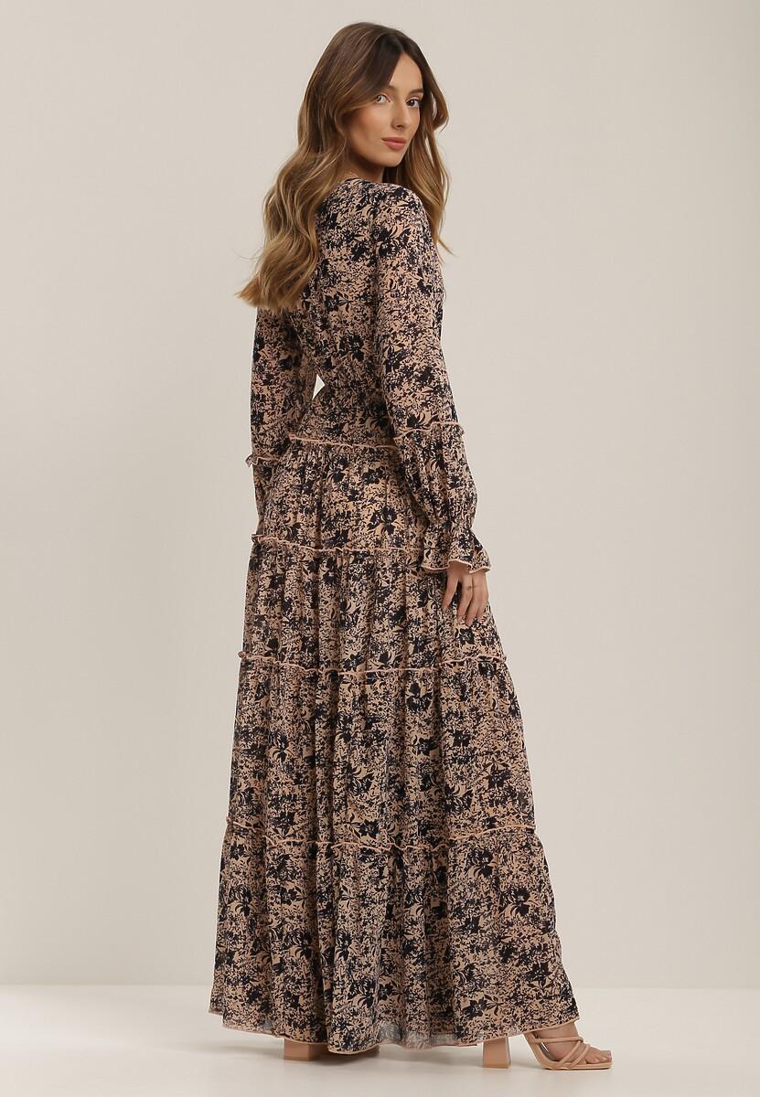 Beżowa Sukienka Nemoryss