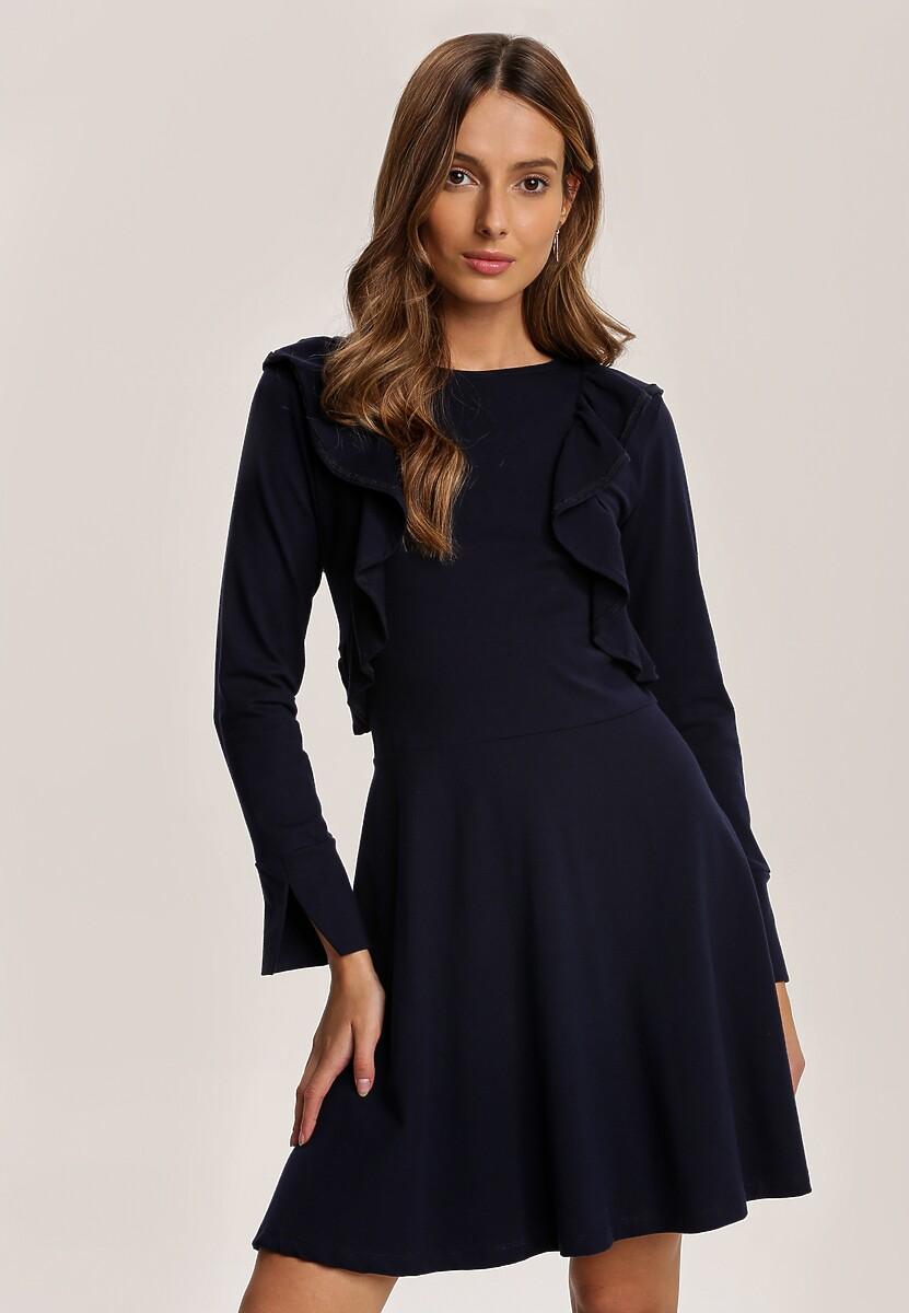 Granatowa Sukienka Uhrlenne