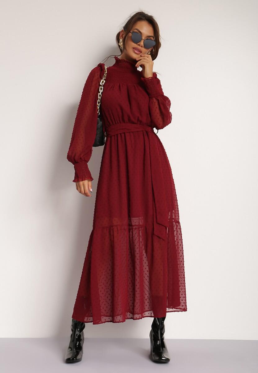 Bordowa Sukienka Xisvielle