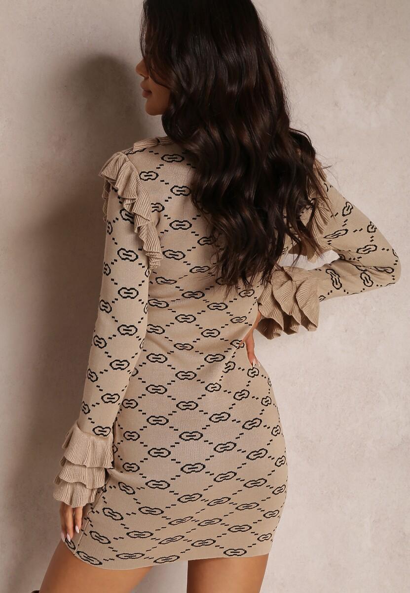 Beżowa Sukienka Ohirarah