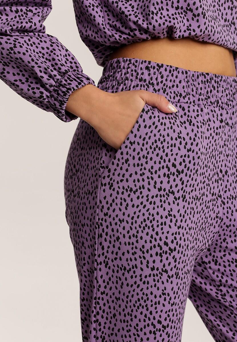 Fioletowe Spodnie Narisea