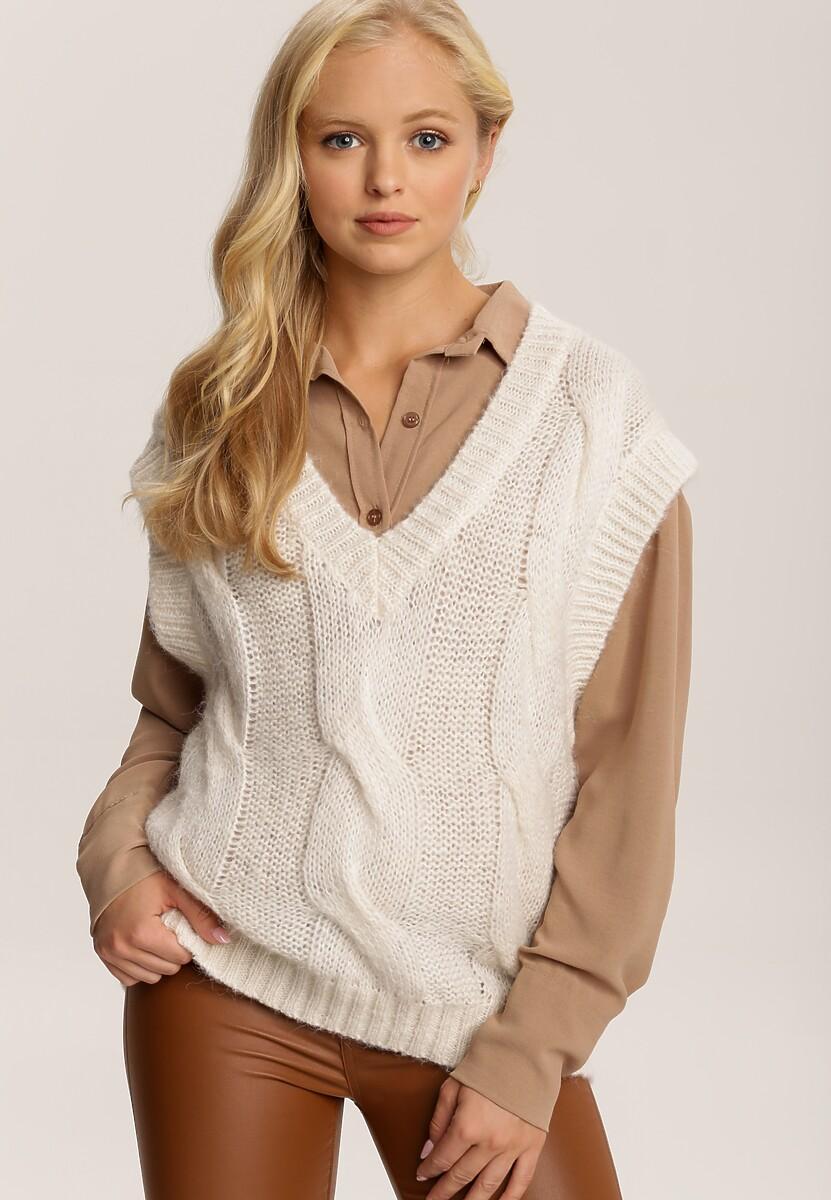 Kremowy Sweter Winaris