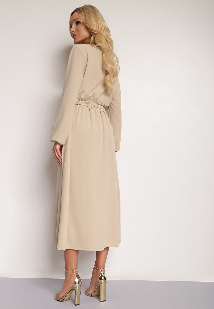 Jasnobeżowa Sukienka Elrinneth