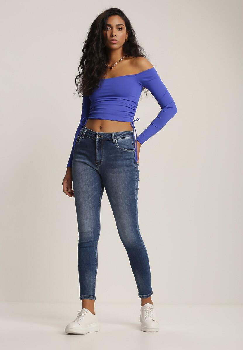 Niebieskie Jeansy Skinny Ohiraith