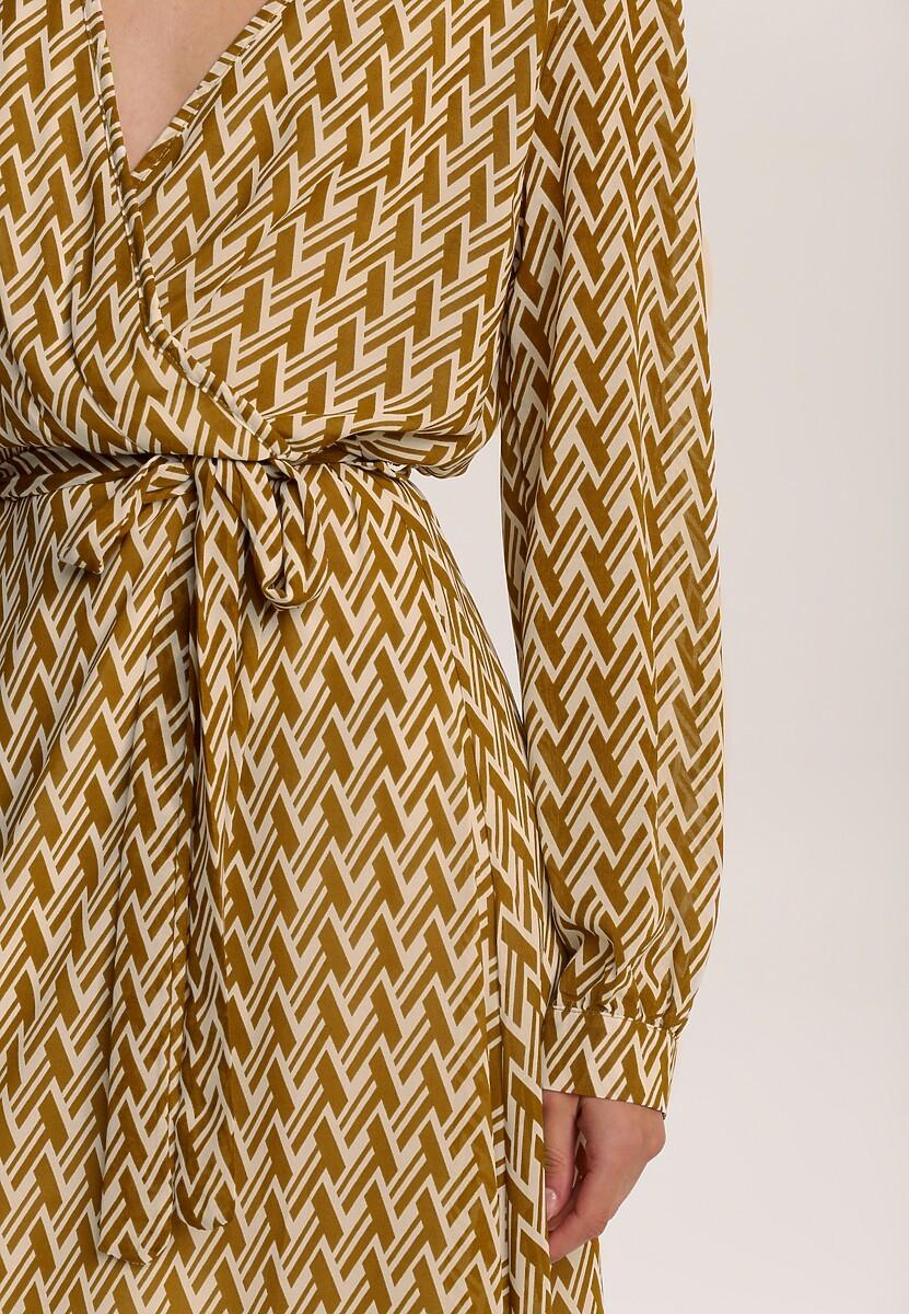 Camelowa Sukienka Wylinrelle