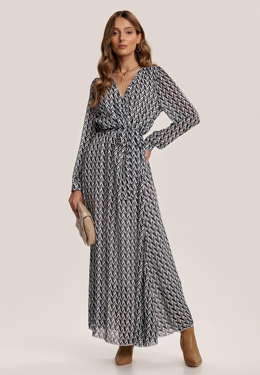 Biało-Granatowa Sukienka Wylinrelle