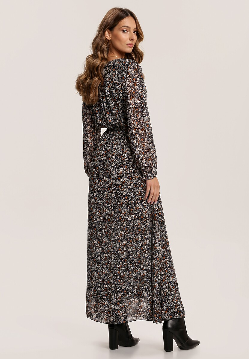 Czarno-Beżowa Sukienka Daemlienne