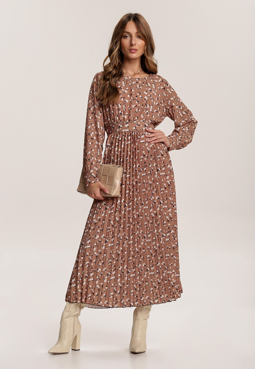 Beżowa Sukienka Lileth