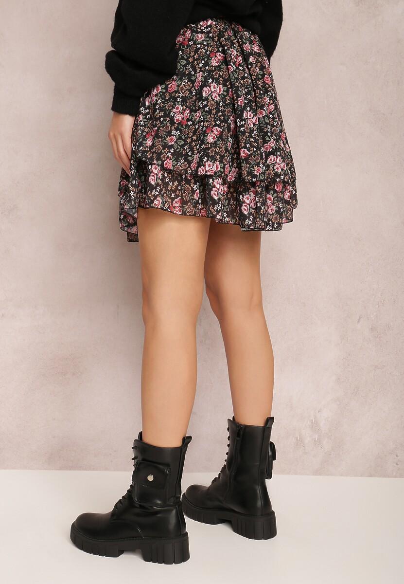 Czarno-Różowa Spódnica Xenrelle