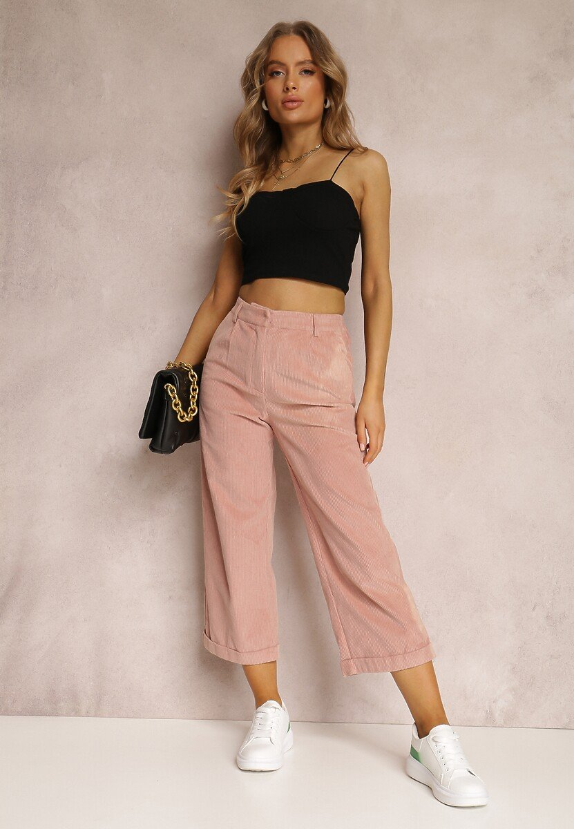 Różowe Spodnie Culottes Harelnila