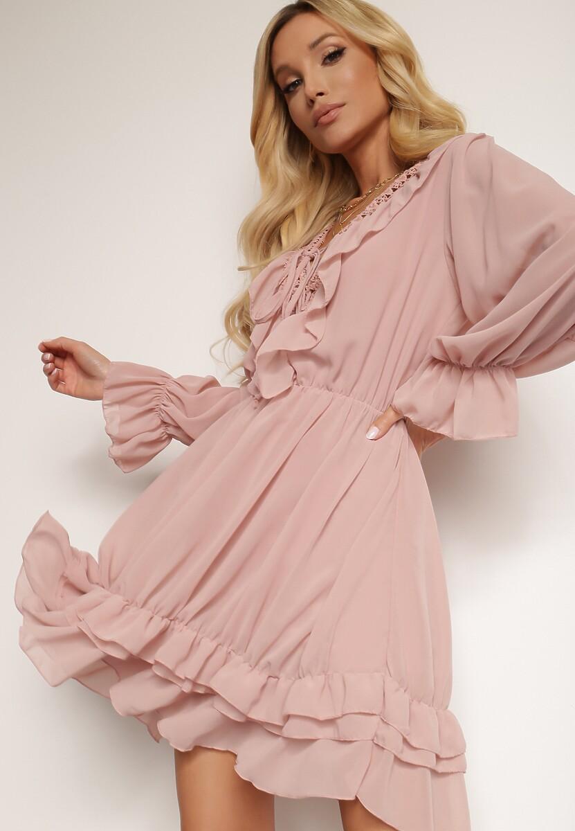 Różowa Sukienka Brizsha