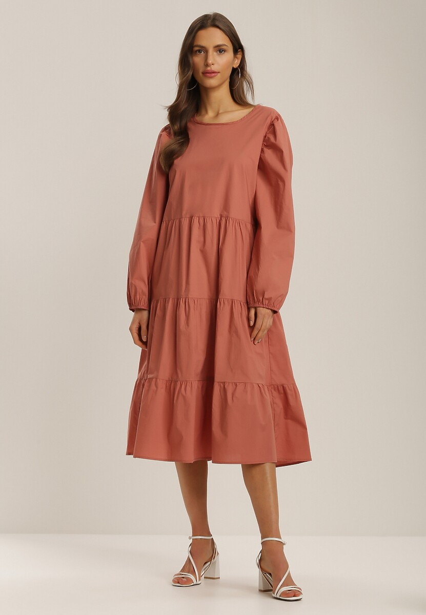 Ceglasta Sukienka Kelera