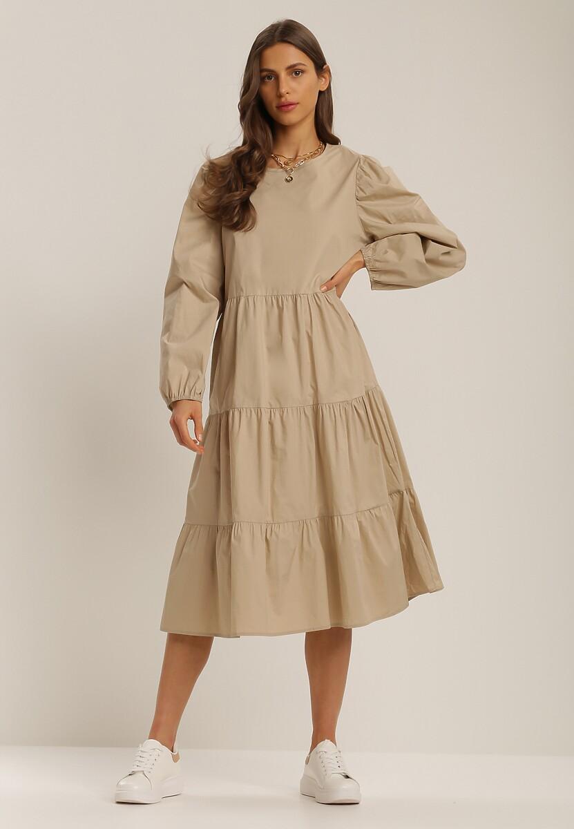 Beżowa Sukienka Kelera