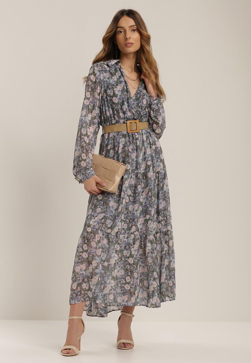 Niebieska Sukienka Phislyn