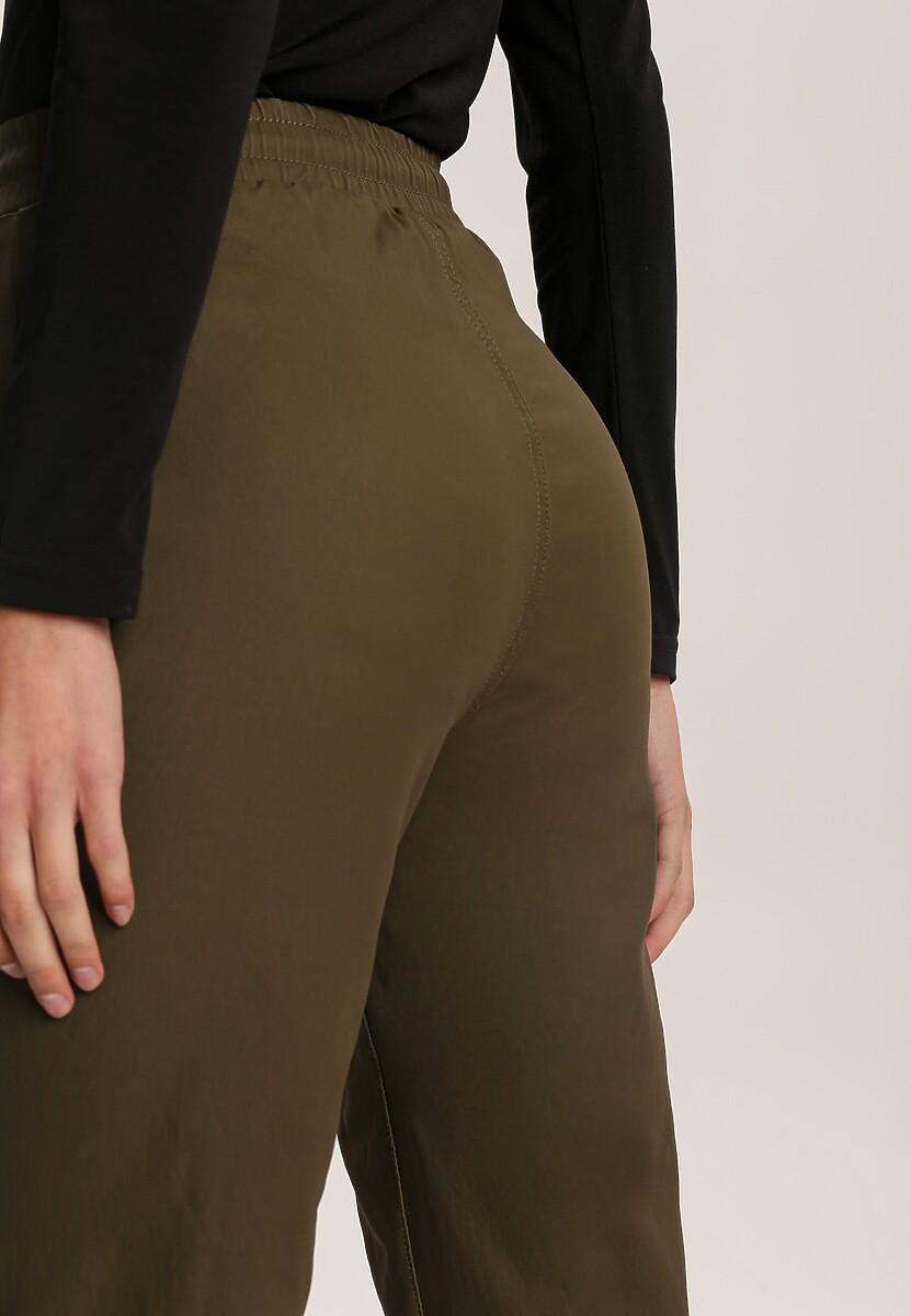 Ciemnozielone Spodnie Joggery Usinola
