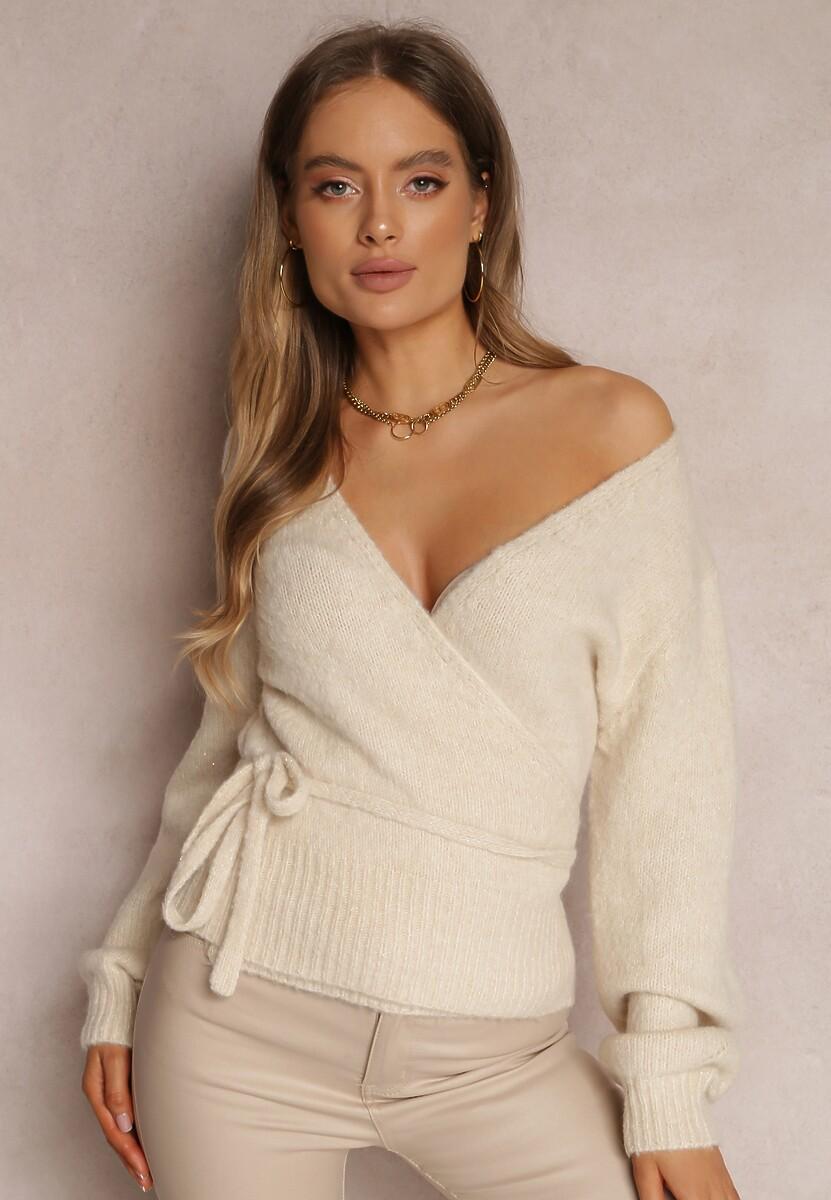 Kremowy Sweter Xenanya