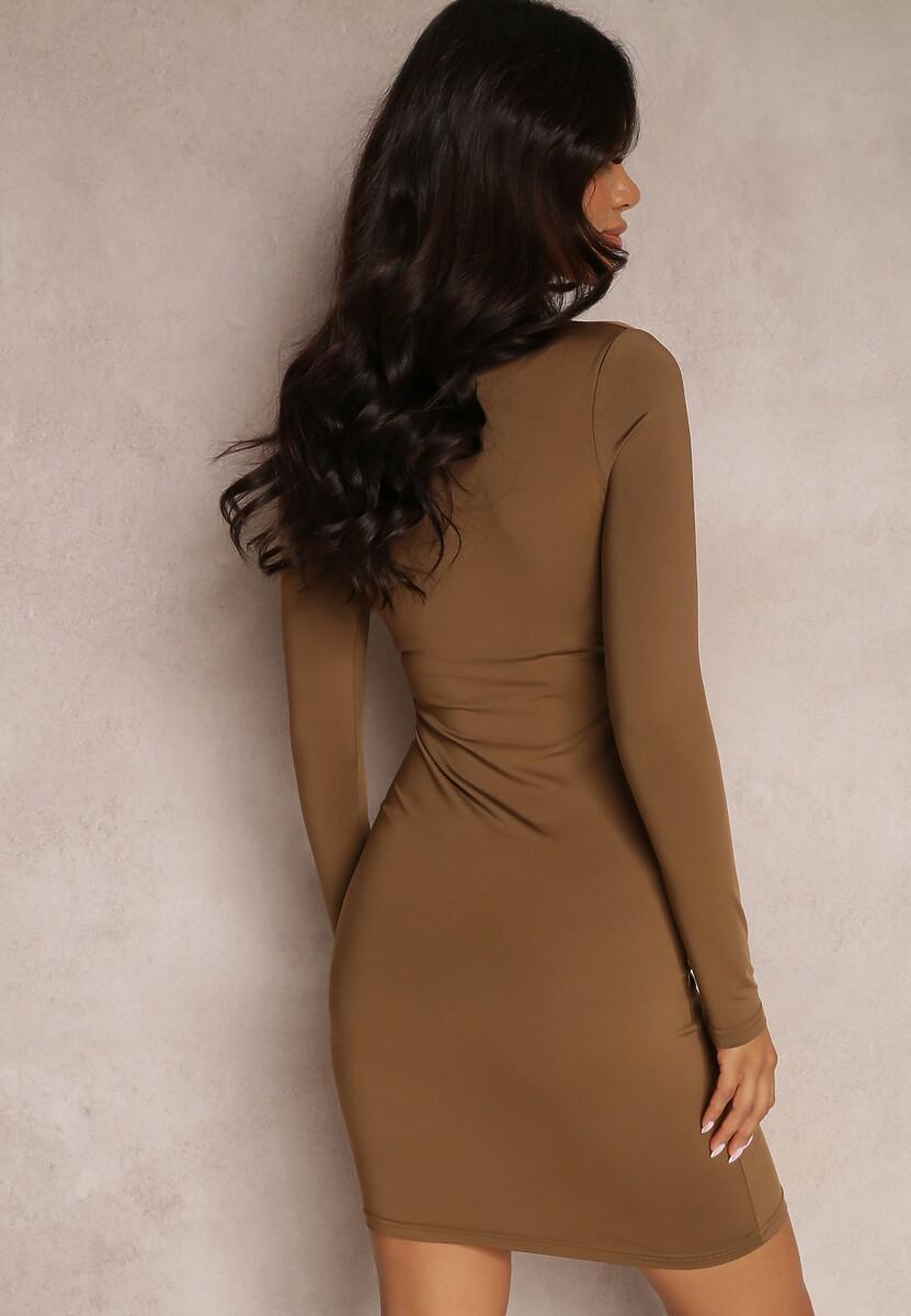 Brązowa Sukienka Mhyrtyse