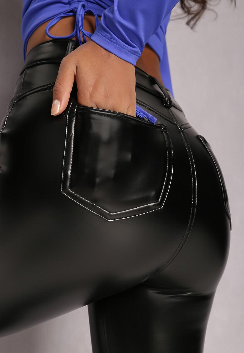 Czarne Spodnie Push Up Irinlienne