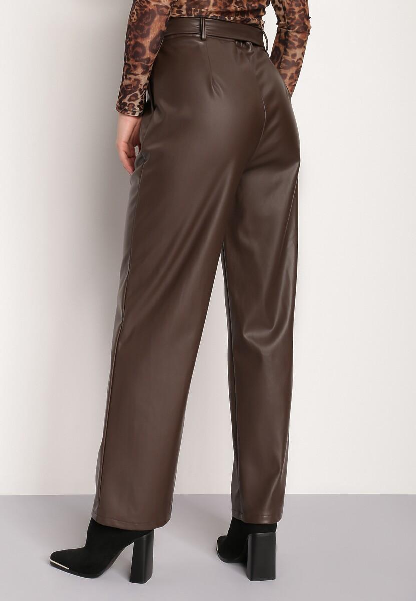 Ciemnobrązowe Spodnie Fyseryss