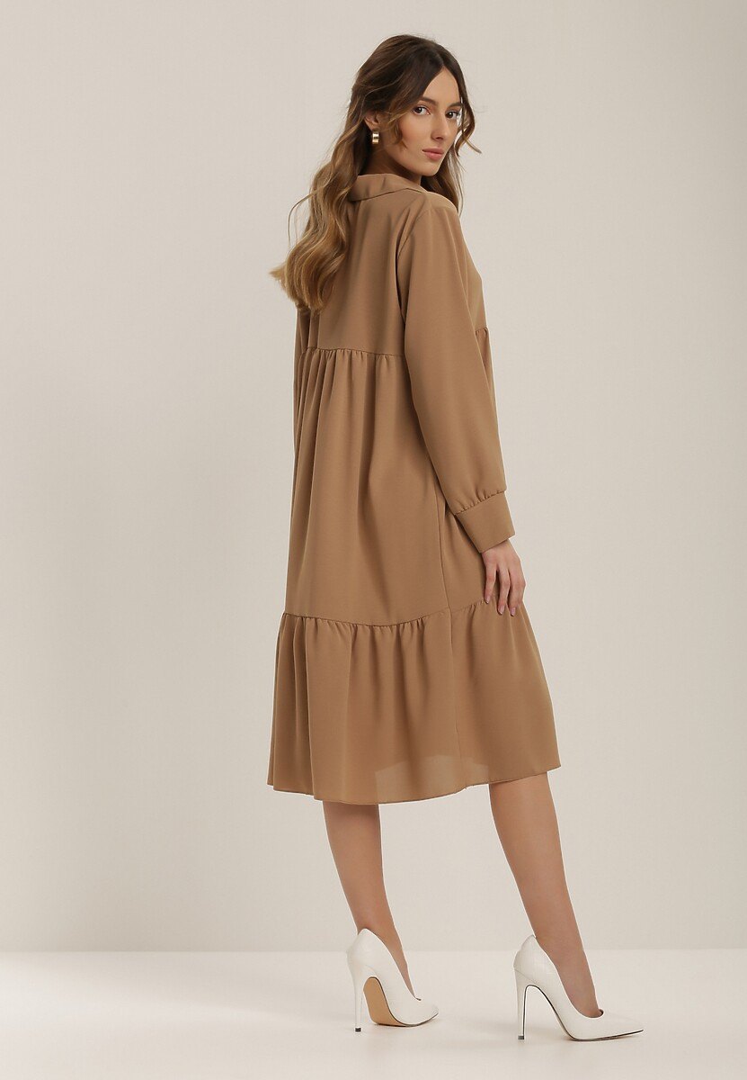 Beżowa Sukienka Rhaedise