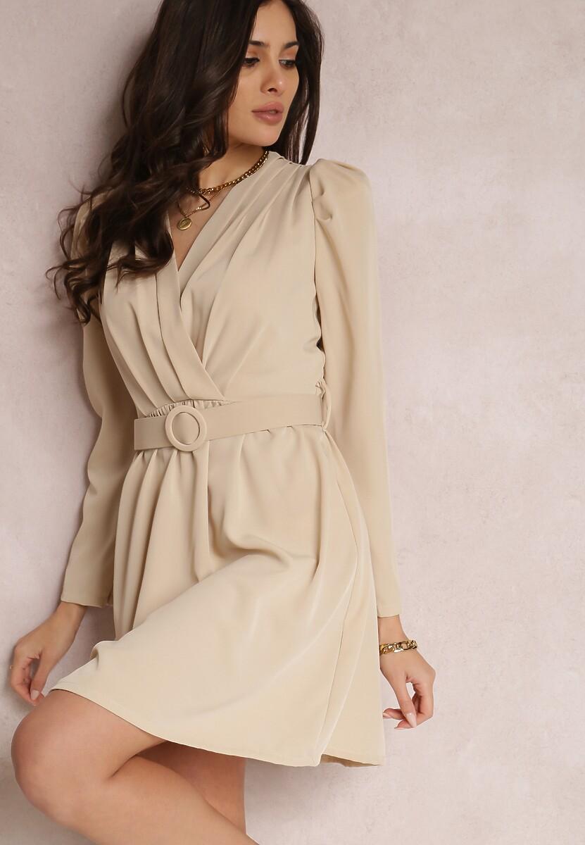 Jasnobeżowa Sukienka Salalodia