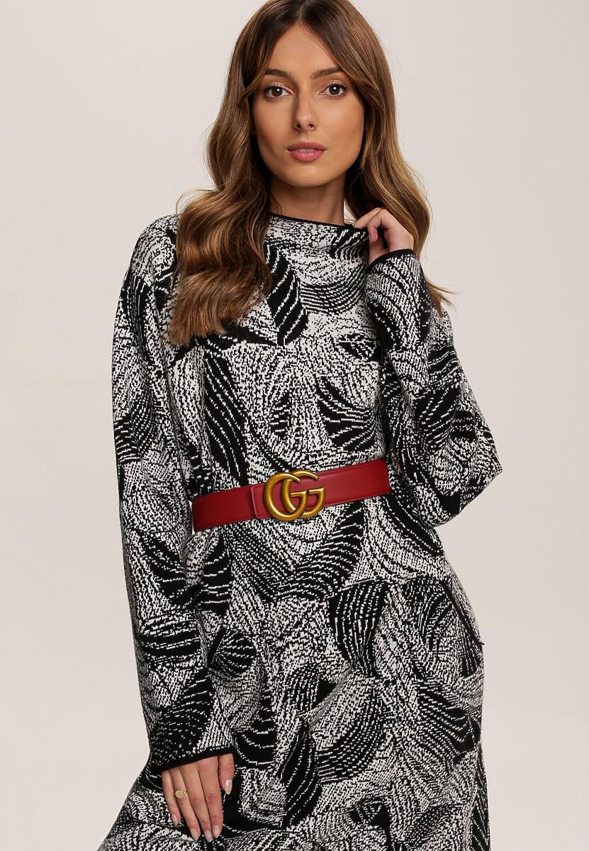Czarna Sukienka Dzianinowa Gnarvahr
