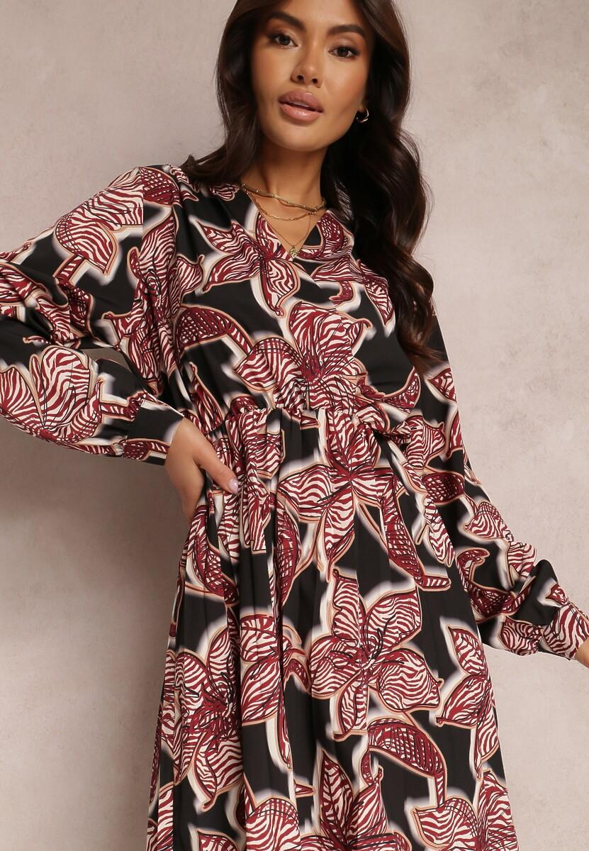 Bordowa Sukienka Azernear