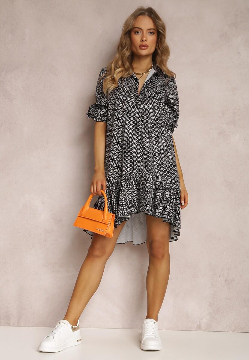 Czarno-Beżowa Sukienka Zaranilan