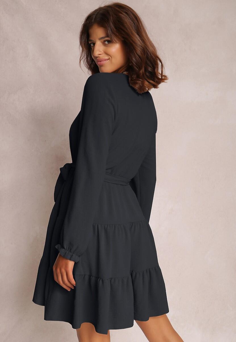 Granatowa Sukienka Fyranne