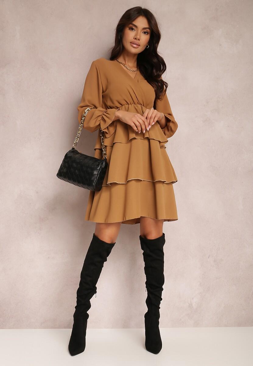 Ciemnobeżowa Sukienka Softpeak