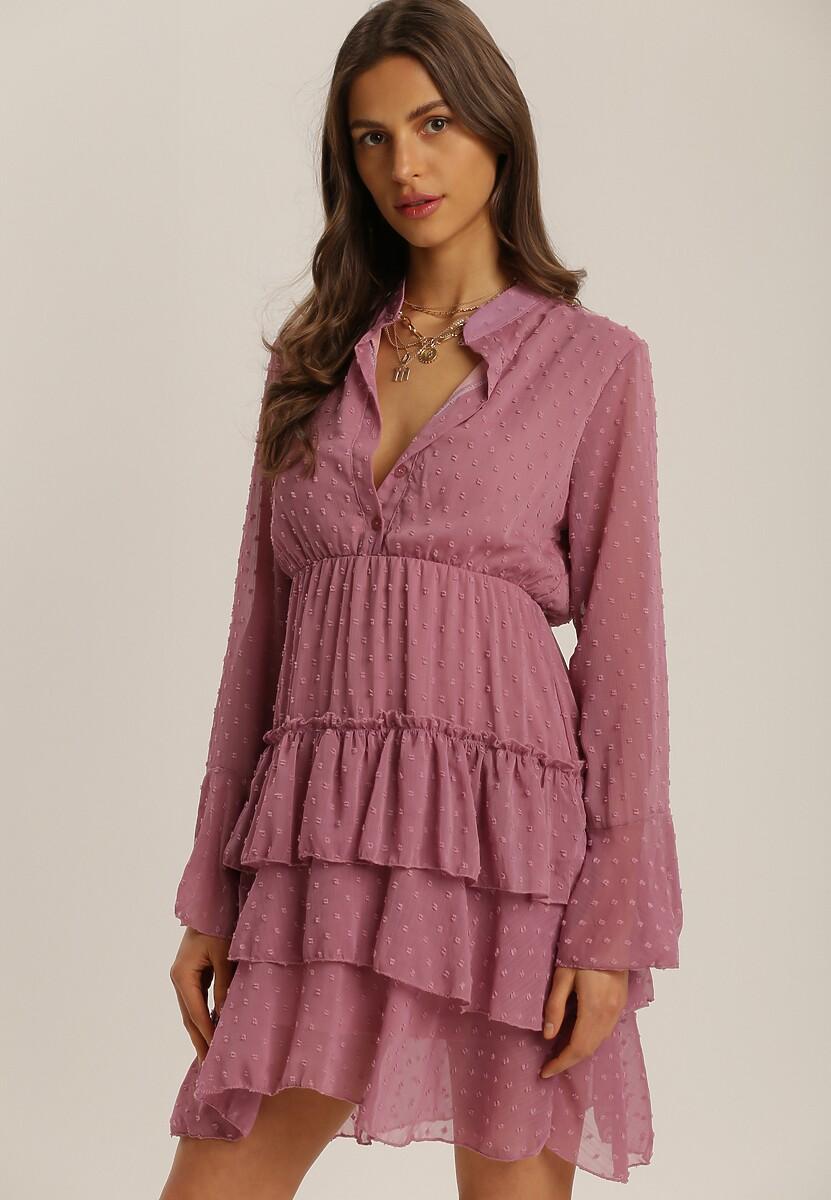 Ciemnoróżowa Sukienka Whifflebird