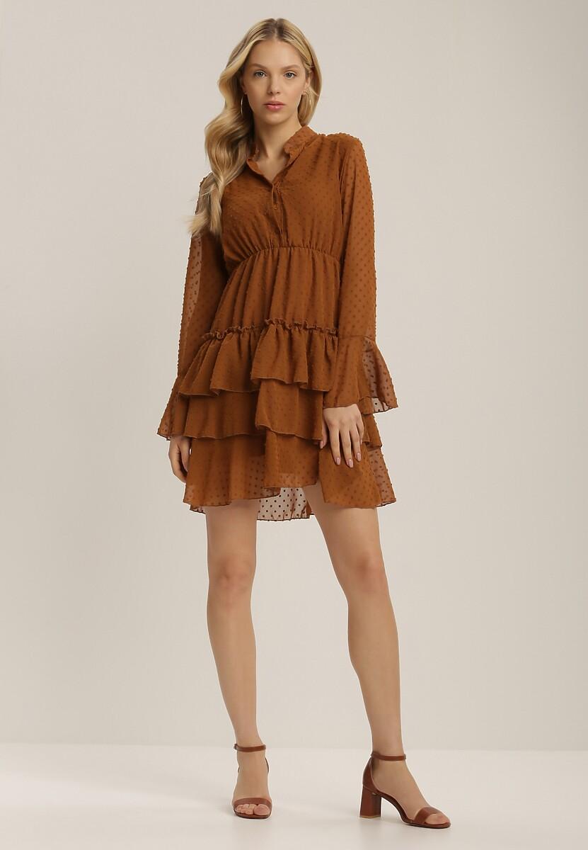 Brązowa Sukienka Whifflebird