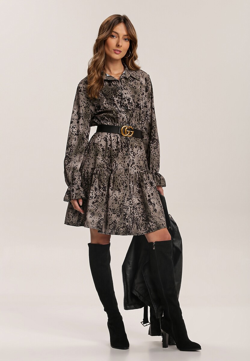 Ciemnozielona Sukienka Tanglefreeze