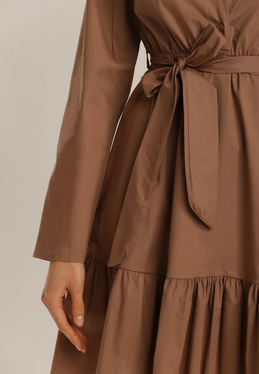 Ciemnobeżowa Sukienka Greenroar
