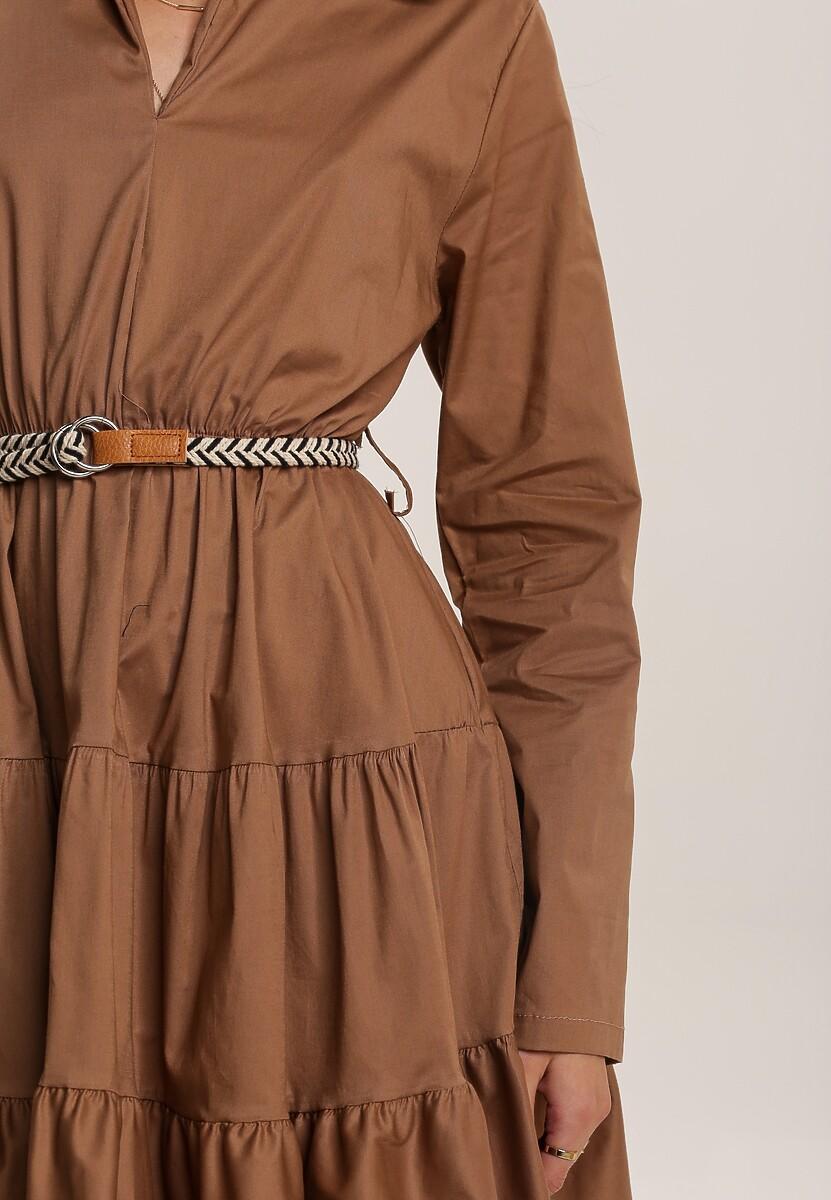 Ciemnobeżowa Sukienka Clanglow