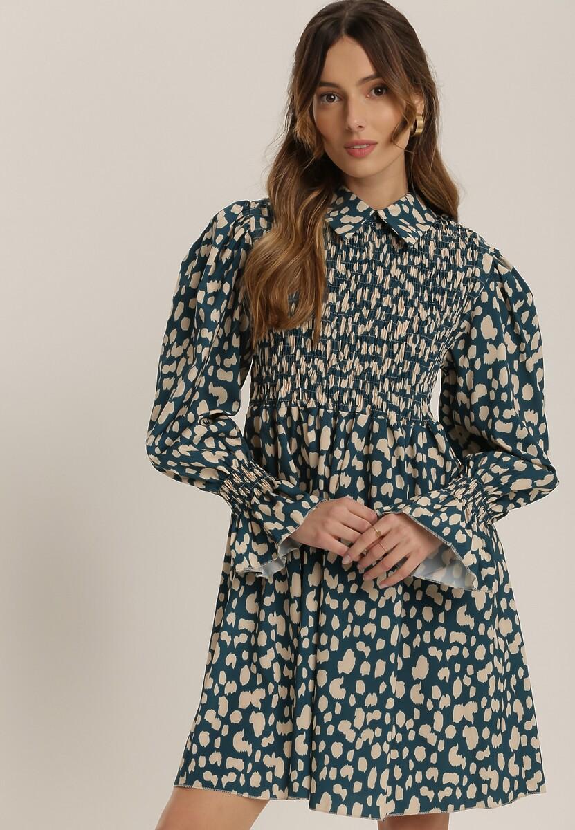 Niebieska Sukienka Isonoe