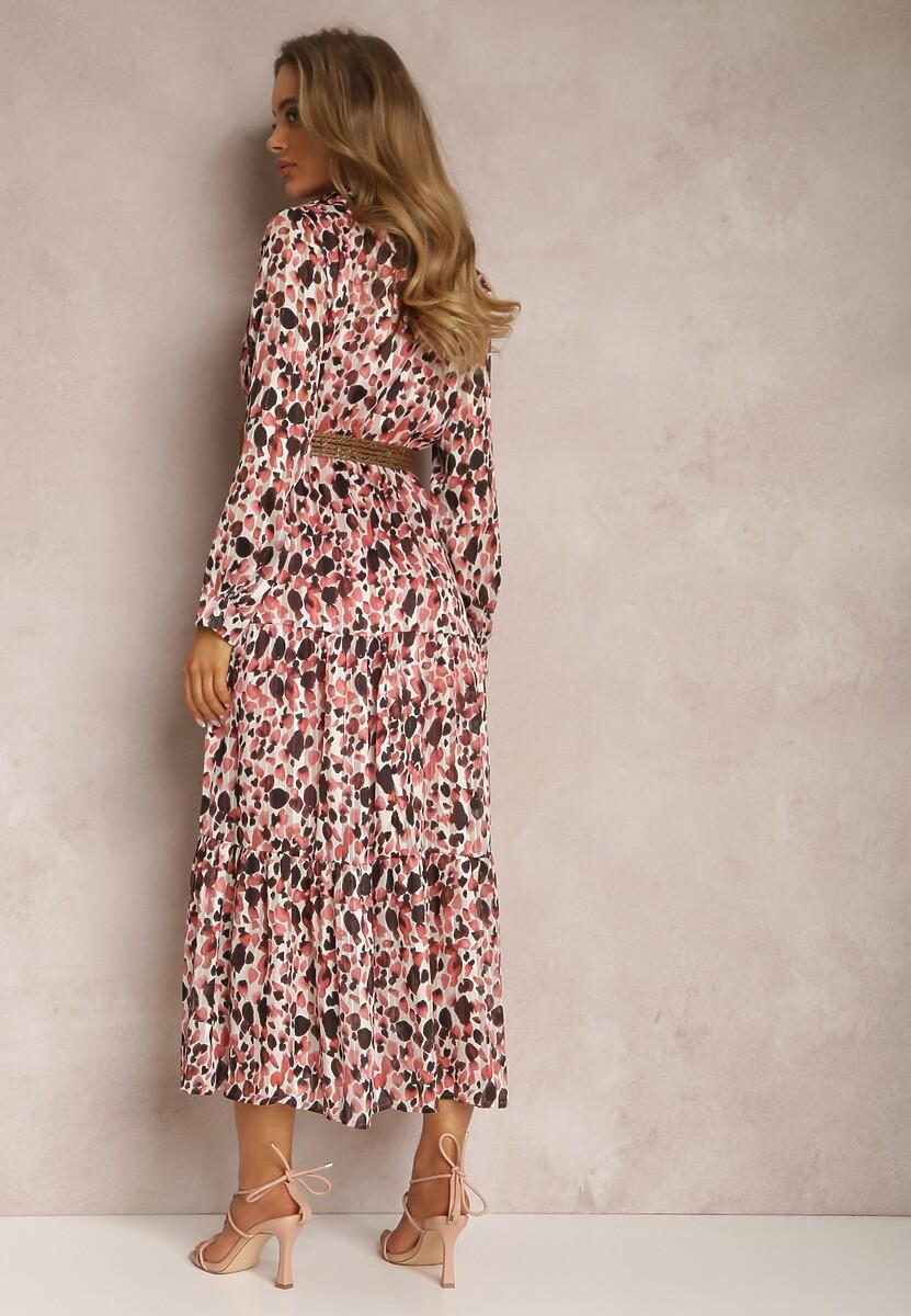Różowa Sukienka Mossaxe