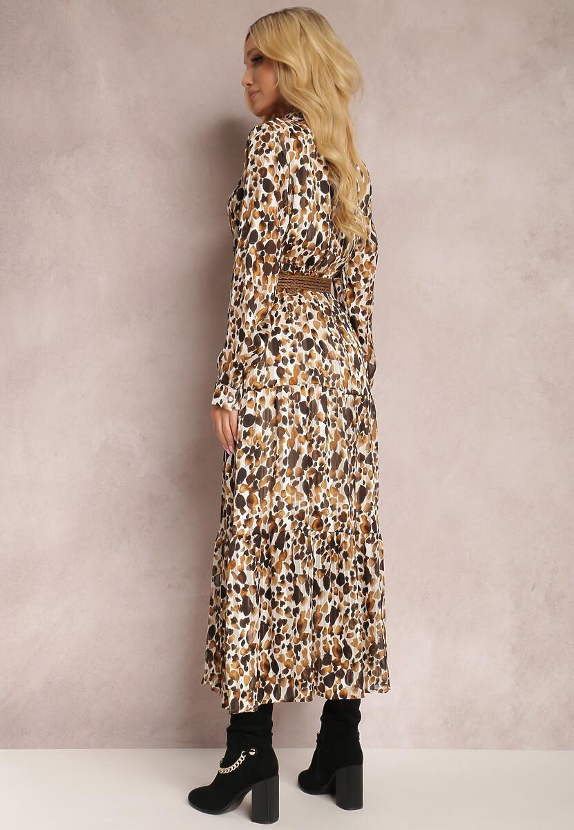 Brązowa Sukienka Mossaxe