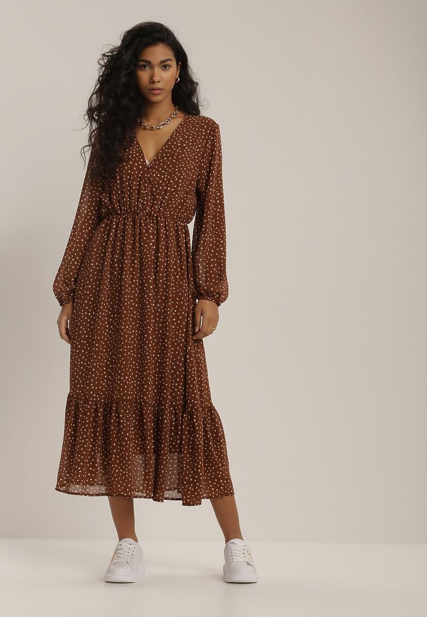 Brązowa Sukienka Wheatmore