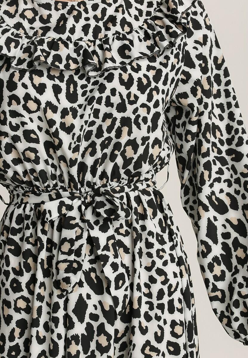 Czarno-Biała Sukienka Leafcaller
