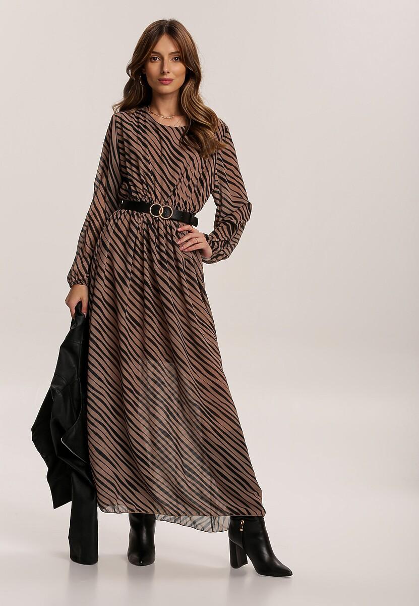 Ciemnobeżowa Sukienka Fistcrag