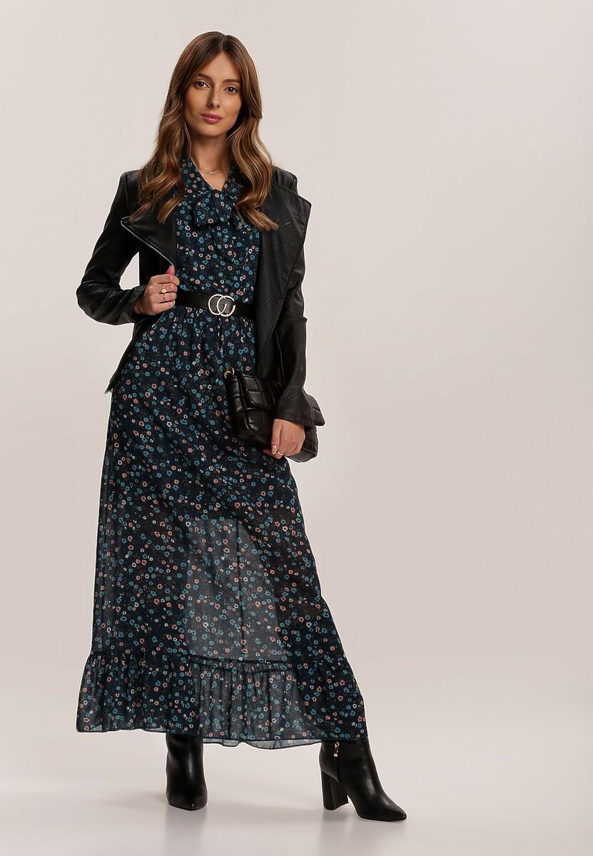 Granatowa Sukienka Cuteswirls