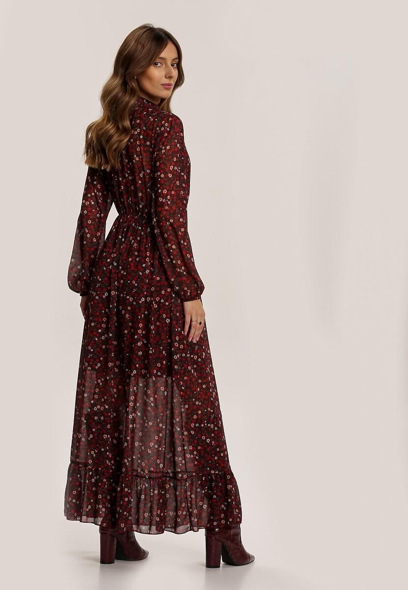 Bordowa Sukienka Cuteswirls
