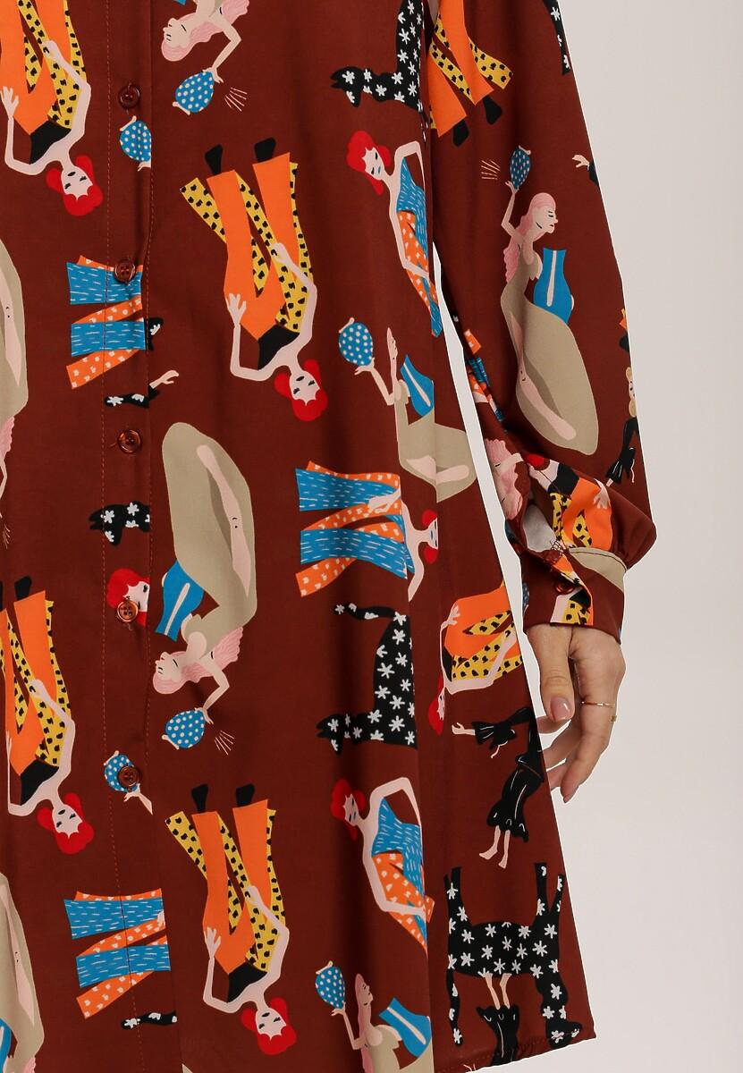 Brązowa Sukienka Funnybloom