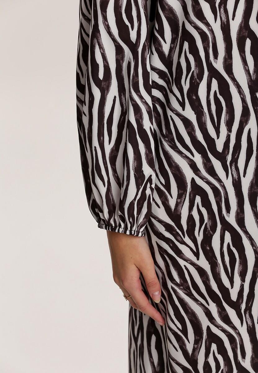 Czarno-Biała Sukienka Figbloom